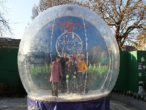 One of our giant snowglobes
