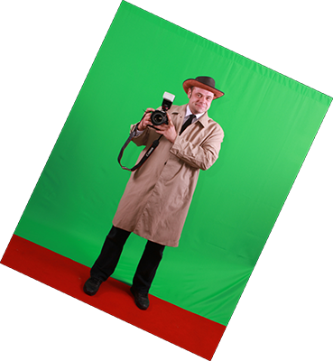 One of our intrepid paps taken against a green screen