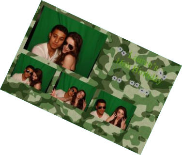 Army themed photo booth print