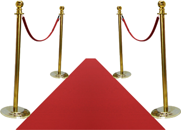 We can even supply a red carpet and rope barrier to add the finishing touches