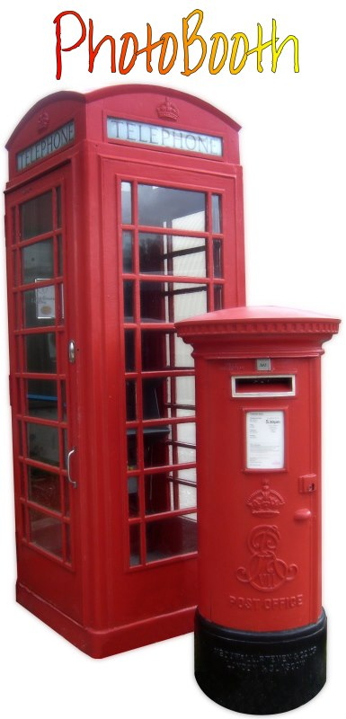 telephone box photo booth hire Scotland
