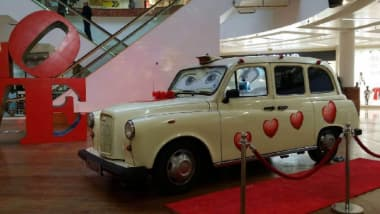 One Of Our London Taxi Cab Photo Booths In Old English White